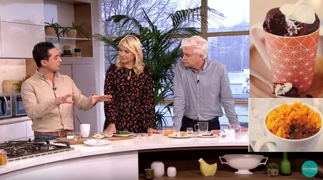 Microwave Recipes – Puffin, Chocolate Orange Cake and Jerk Shepherds Pie as seen on ITV This Morning Jan-17