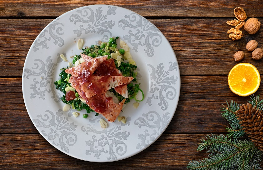 Cranberry Glazed Turkey Breast with Warm Christmas Salad Video | David Lloyd Clubs Food Series