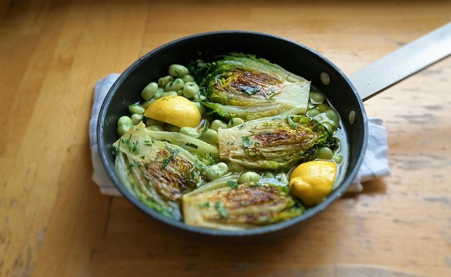 Braised Lettuce – delicious braised gem lettuce