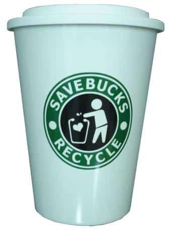 Starbucks Inspired Coffee Cup Trash Bin