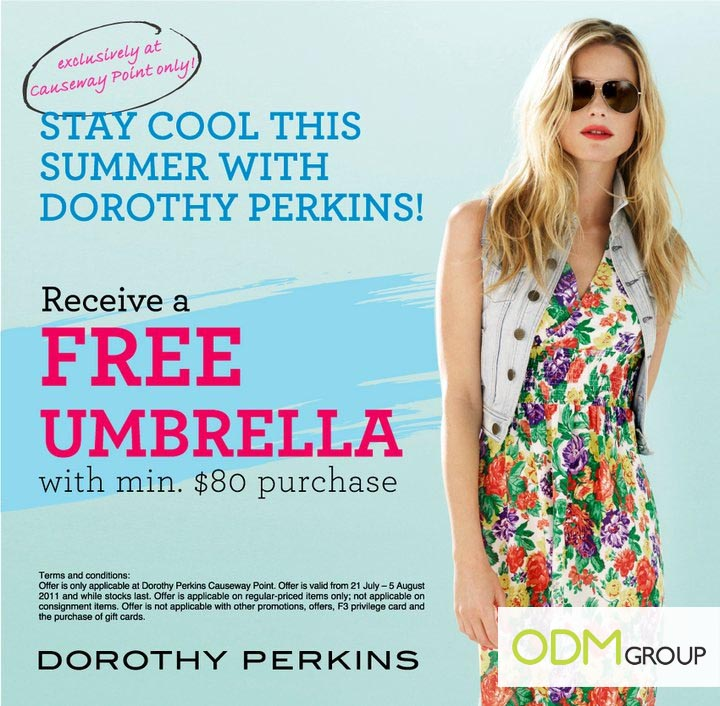 PWP Singapore - Free Umbrella by Dorothy Perkins