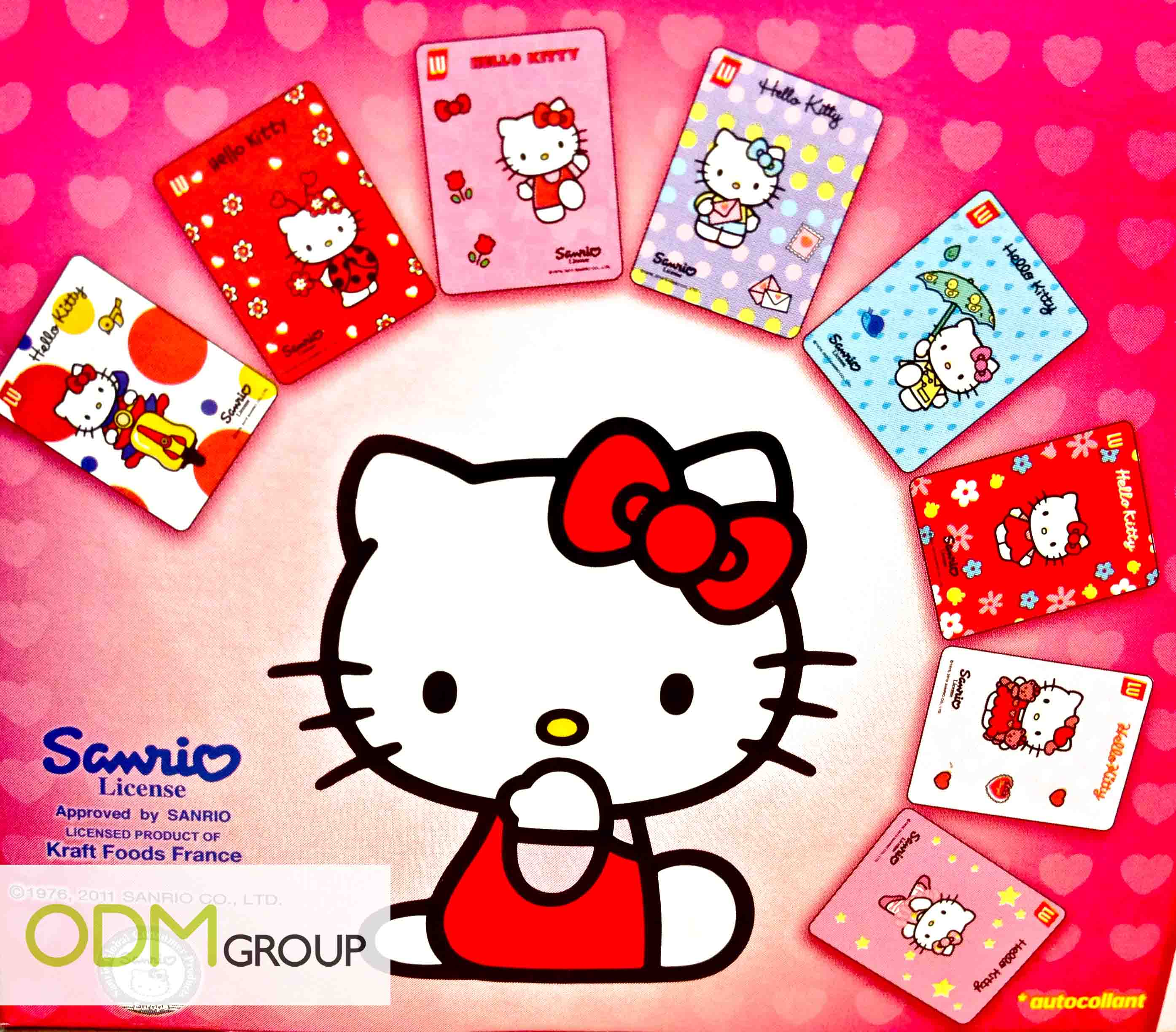 lu hello kitty biscuit kraft food collectible stickers