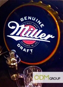 Drinks industry bottle cap light