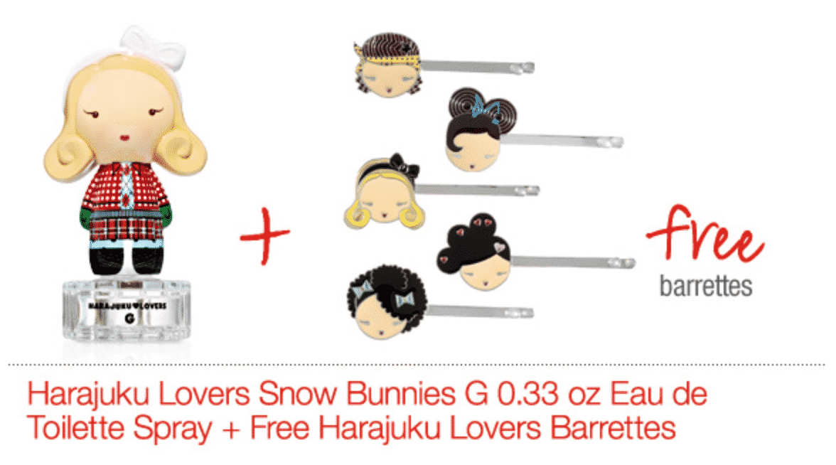 Harajuku Lovers Fragrance Offers Mascot Barrettes as GWP!