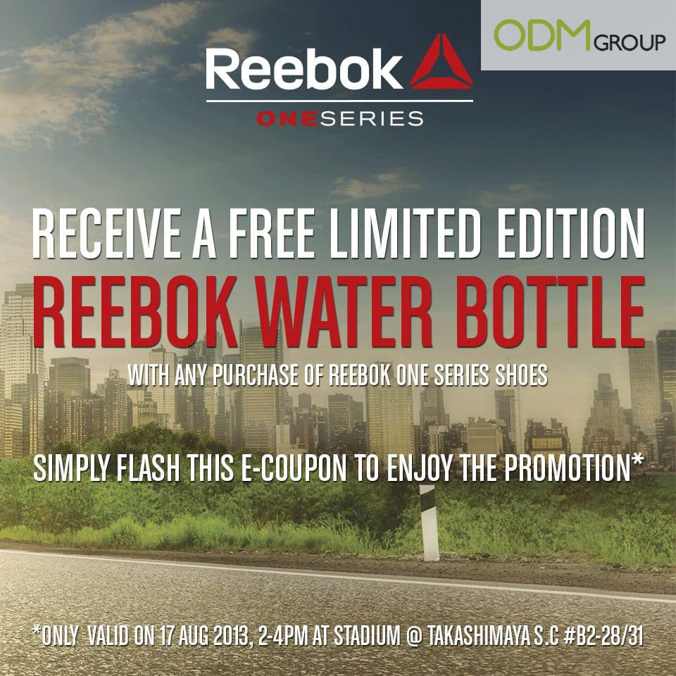Stay hydrated with Reebok's promotional merchandise!