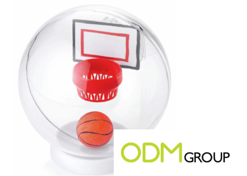 A promotional item to practice your dunk; a mini Basketball game