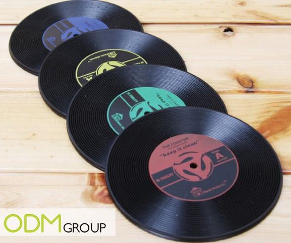 Music marketing - Customisable Record Coaster