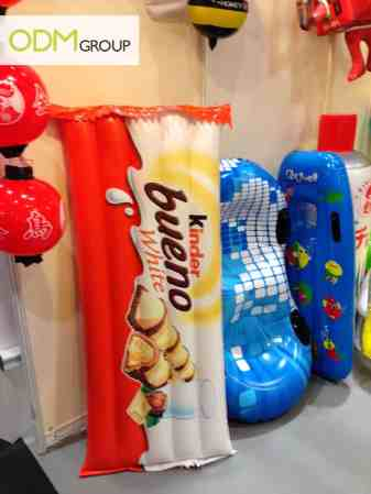 Custom Inflatables - Kinder Bueno and beach items