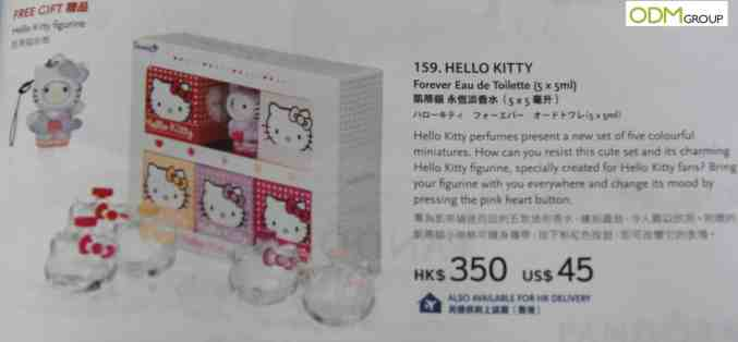 Hello Kitty offering custom figurine as a giveaway