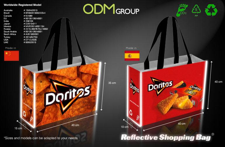 Reflective Shopping Bag - Doritos Example