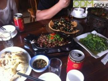 Factory Visit – Eating in China