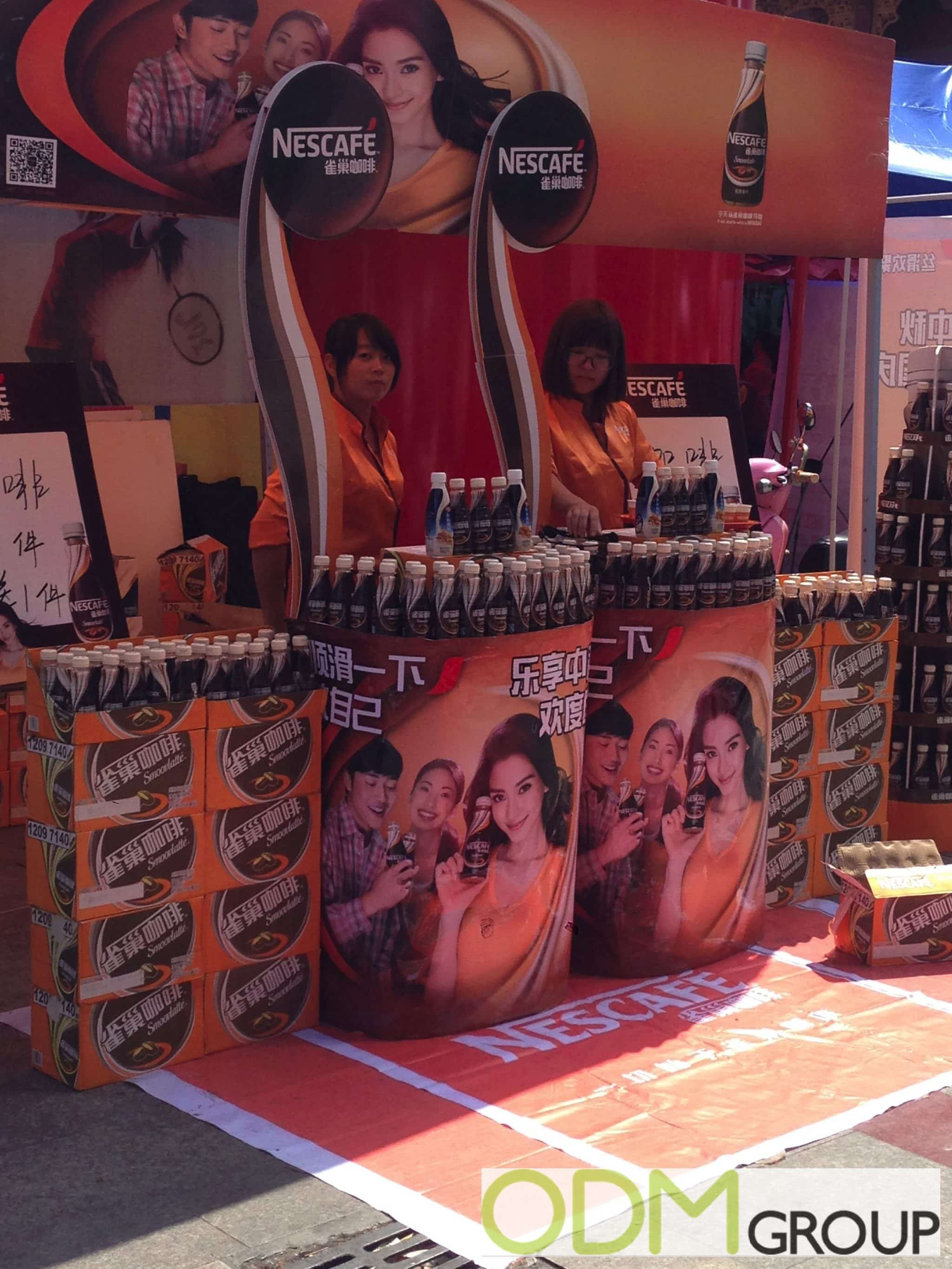 In-Store Display to Increase Brand Awareness by Nescafé