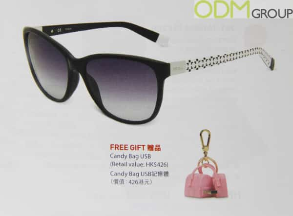 Free gift with purchase by Italian company Furla