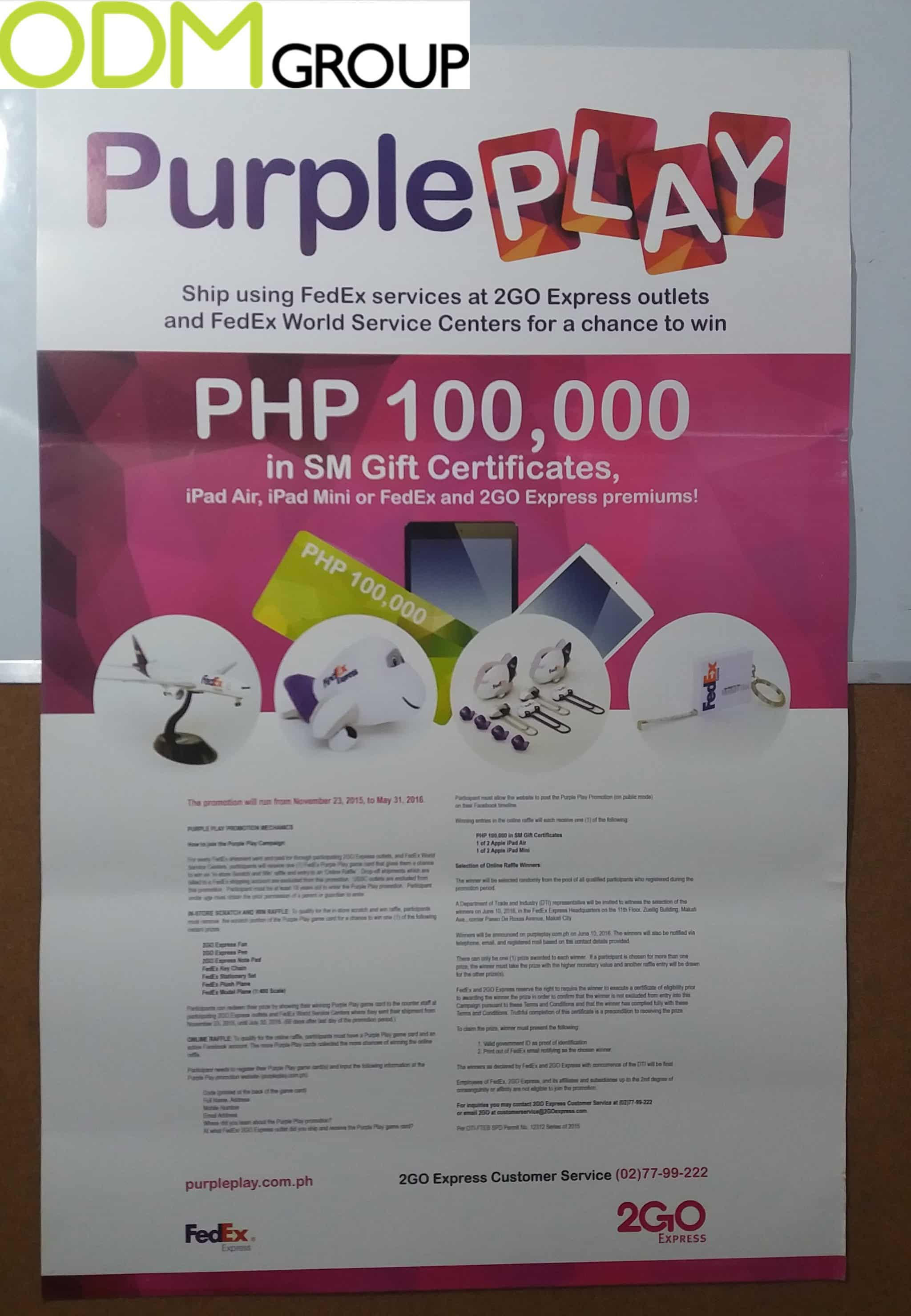 Promotional Campaign by FedEx - Lottery to Win a Free Gift