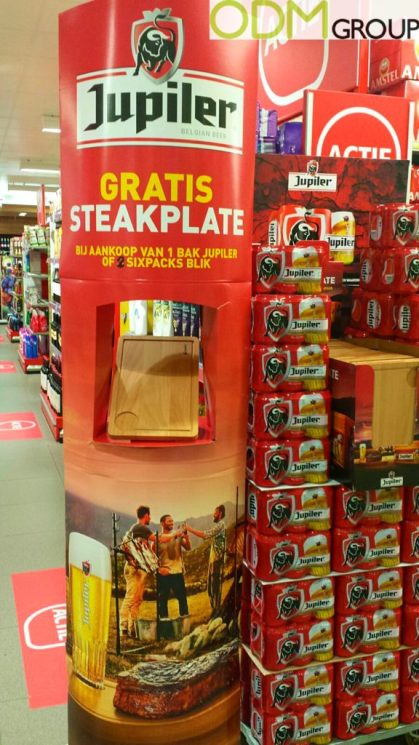 In Store Promotion - Branded Steak Plate by Jupiler