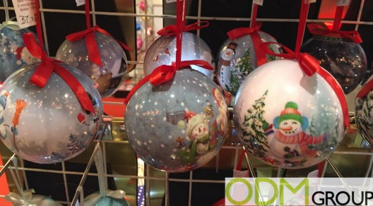 Flashing Christmas Baubles with Full Colour Print