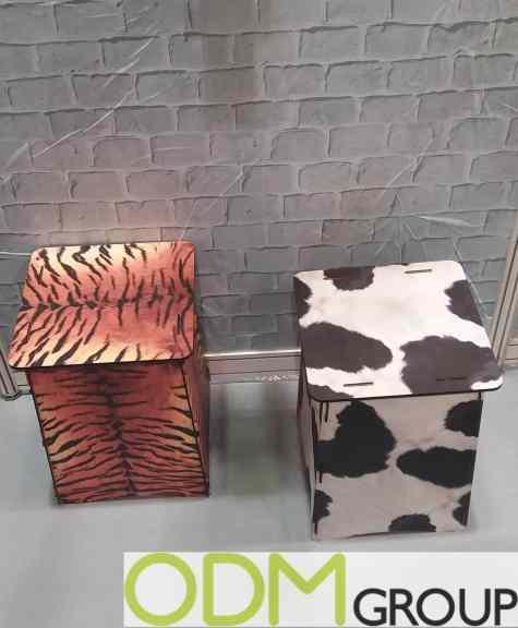 New Advertisement Idea: Custom Cardboard Stool with Full Color Printing