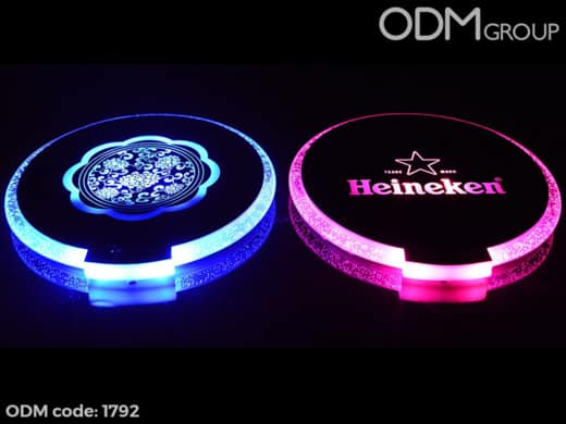 Promotional LED Coaster - The Perks Past the Light