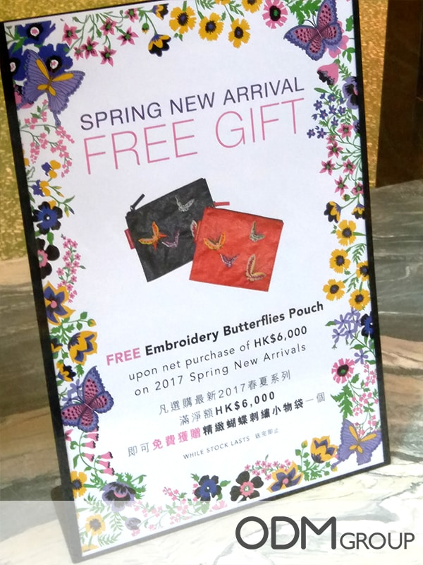 Promotional embroidery pouch – GWP for fashion industry