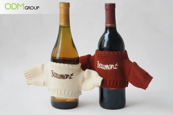 Christmas Promo Gift Idea for Wine Products Knitted Bottle Sweater