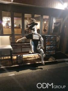 Mad Cow Outdoor POS Display – Only in Japan