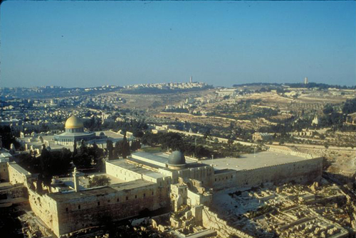 Temple Mount (Haram esh Sharif) with Dome of the Rock and El Aqsa Mosque, Jerusalem, Israel Photo