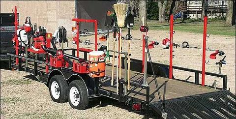 trimmertrap landscaping equipment