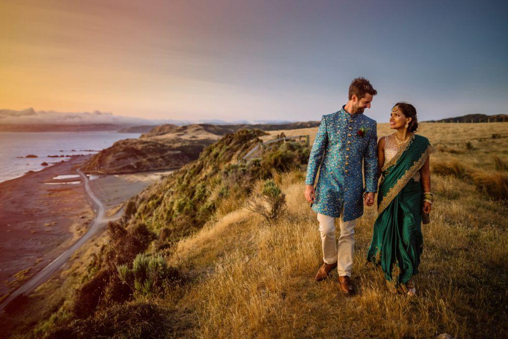 Pencarrow Lodge Indian wedding sunset photography