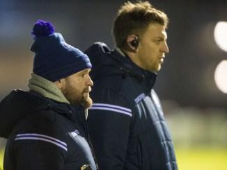 Scotland Under 20s head coach Stevie Scott and attack coach Nikki Walker.