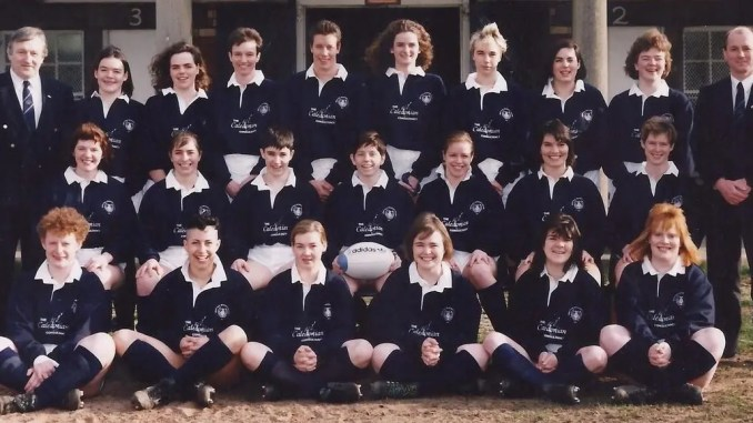 The Scotland team which faced Ireland in the country's first ever women's International 25 years ago today [on 14th February 1993]