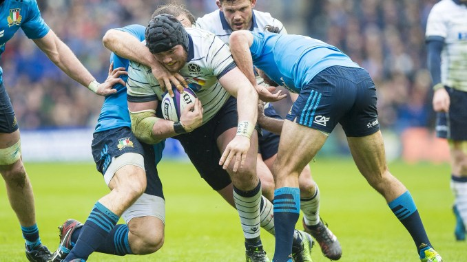 Zander Fagerson in action against Italy last year.