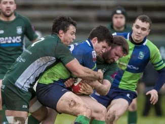 Edinburgh and Scotland flanker John Hardie in action for Hawick against Boroughmuir