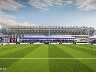 An artist's impression of the venue Edinburgh and the SRU propose to build on the back pitches at Murrayfield ahead of the start of the 2019-20 season