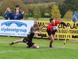 Biggar snatched top spot with a big home win against previous league-leaders Melrose. Image: Nigel Pacey