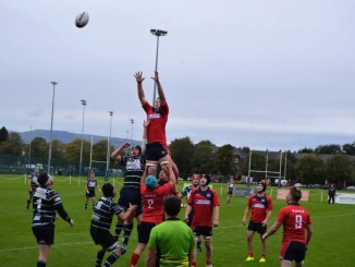 GHK and Newton Stewart in action during round five