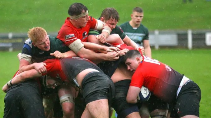 Glasgow Hawks squeezed past Hawick at Mansfield Park.
