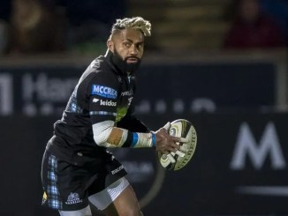 Niko Matawalu could be involved for Glasgow Warriors against the Dragons this weekend. Image: ©Craig Watson