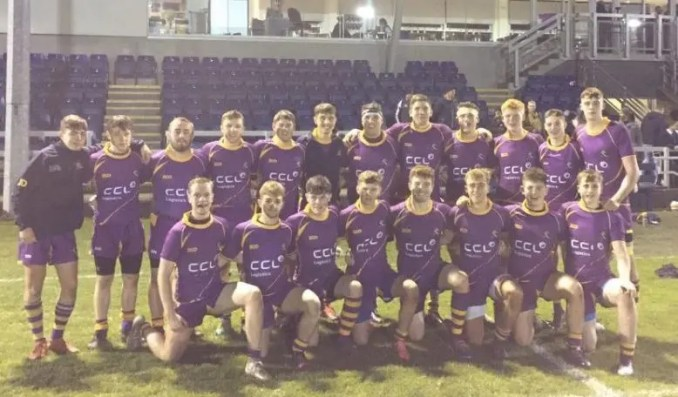 The victorious Marr College team after defeating High School of Glasgow at Anniesland. Image courtesy: Marr Rugby twitter account