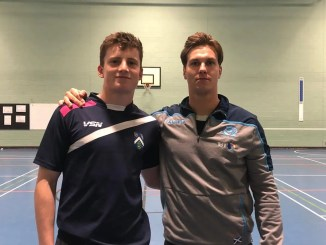 Glasgow Accies duo Fin Neilson and Tommy Spinks at training this week ahead of Friday night's clash against their team's nearest and dearest rivals GHK.