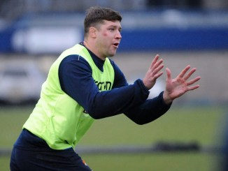 Grant Gilchrist in training with Edinburgh earlier this week. Image: Fotosport/David Gibson