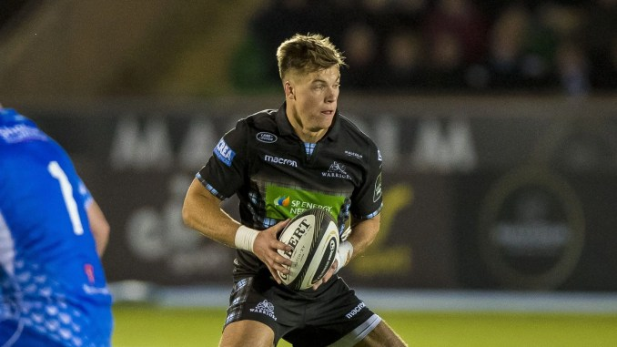 Huw Jones getting some rare game time with Glasgow Warriors earlier this season. Image: © Craig Watson - www.craigwatson.co.uk