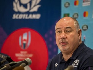 Mark Dodson addressed the media at Yokohama Sheraton Bay Hotel two days before Scotland's final pool match against Japan, to make the case against a cancellation. Image: © Craig Watson - www.craigwatson.co.uk