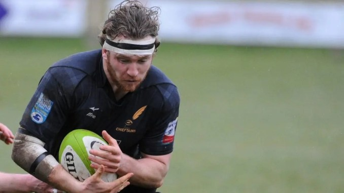Scotland Club XV captain Fergus Scott in action for Currie Chieftains. Image: Fotosport/David Gibson