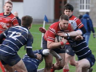 Tom Aplin scored a try and kicked 10 points for Aberdeen Grammar against Musselburgh last weekend. Image: Howard Moles