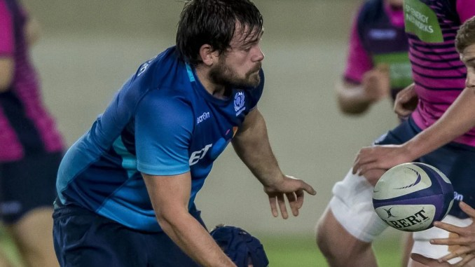 Shawn Muir, seen here in action during a training match against Scotland Under-20s last season, is back in the squad this year. Image: ©Craig Watson - www.craigwatson.co.uk