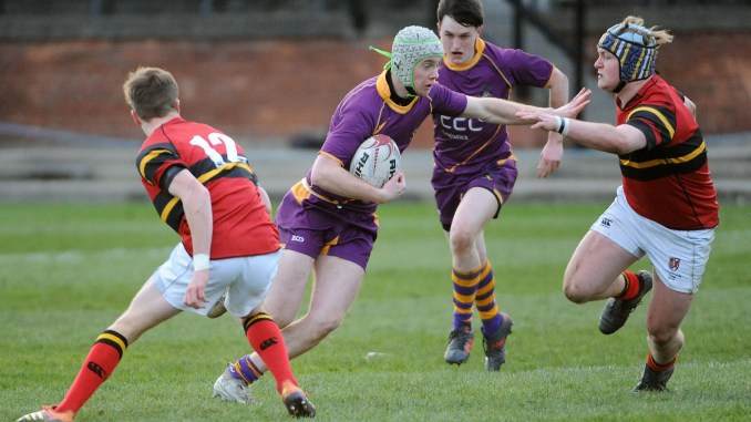 Stewart's Melville defeated Marr College in the semi-final of the Scottish Schools' U18 Cup this season. Image: Fotosport/David Gibson