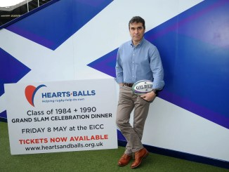 Iwan Tukalo is the driving force behind the Hearts & Balls charity dinner on the 8th May which will bring together the 1984 and 1990 Grand Slam teams for the first time. Image: FOTOSPORT/DAVID GIBSON