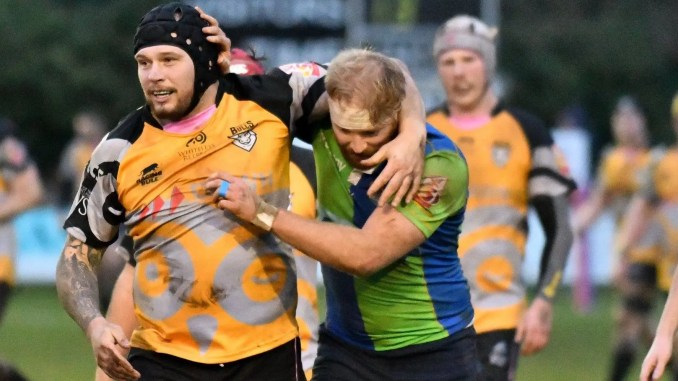 Ayrshire Bulls (and former Scotland) prop Gordon Reid and Boroughmuir back-row Craig Keddie will have an opportunity to renew acquaintances in Queensferry this afternoon. Image: George McMillan