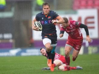 Duhan van der Merwe scored Edinburgh's opening try. Image: Fortosport/David Gibson