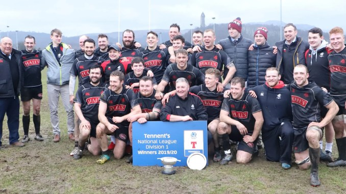 Biggar were crowned National One champions on Saturday after defeating Stirling Wolves at Bridgehaugh.